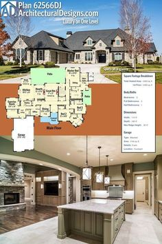 Architectural Designs Luxury House Plan 62566DJ. The home gives you 3 beds, 4 baths and over 4,800 square feet of heated living space. Ready when you are. Where do YOU want to build? #62566DJ #adhouseplans #architecturaldesigns #houseplan #architecture #newhome #newconstruction #newhouse #homedesign #dreamhome #dreamhouse #homeplan #architecture #architect #housegoals #luxuryhouse #luxuryhomes