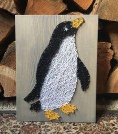 Penguin String Art - order from KiwiStrings on Etsy! www.kiwistrings.etsy.com