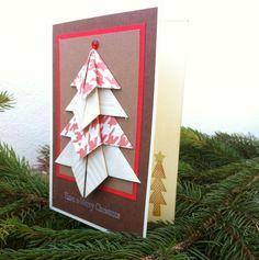 origami christmas card Origami Christmas, Christmas Cards, Advent Calendar, Holiday Decor, Handmade, Home Decor, Xmas Greeting Cards, Hand Made, Xmas Cards