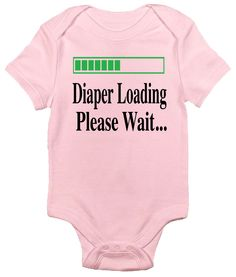 Diaper Loading, Please Wait One-piece Baby Bodysuit