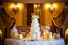 The DuPont Wedding Collection - Wedding Cake table and dessert display