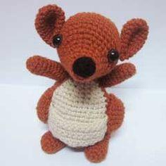 Kellie Kangaroo by Sweet n' Cute Creations crochet pattern $2.00 on Amigurumipatterns.net at http://www.amigurumipatterns.net/shop/Sweet-n-Cute-Creations/Kellie-Kangaroo/