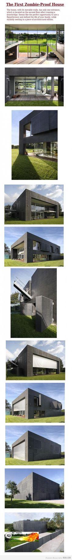 Zombie-Apocalypse-Proof House. OMG I want this sooooo badly @Cj Mahoney