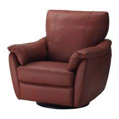 ÄLVROS Sessel m Dreh-/Schaukel-/Ruhefunkt. - Mjuk mittelrot - IKEA