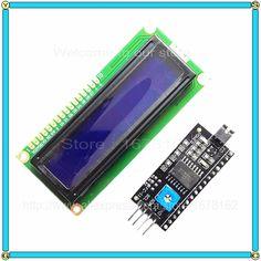 Giallo-verde LCD1602 IIC I2C TWI 1602 Serial Display LCD Module per Arduino