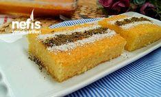 Süt Şerbetli 3 Dakika Tatlısı Sorbet, Turkish Recipes, Ethnic Recipes, Turkish Kitchen, Beautiful Cakes, Food To Make, Bakery, Cornbread, Deserts