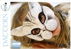 EbonyShae    Ebony Shae Designs, Mask Patterns. Cat mask PATTERN. One size fits most. INSTANT DOWNLOAD.