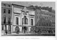 Egyptian Hall, Piccadilly, London, P. F. Robinson architect, 1811  from Metropolitan Improvements (1827)