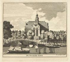 Gezicht op de Noorderkerk te Amsterdam, Pieter van Buysen (jr), ca. 1700 - ca. 1750