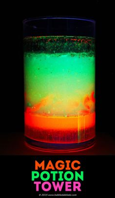 DIY Black Light Magic Potion Density Tower Tutorial from Babble...