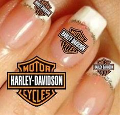 harley davidson stickers | HARLEY-DAVIDSON-2-SIZES-NAIL-ART-STICKERS-autocollants-TATOO-ONGLES ...