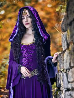 "Gowns Pagan Wicca Witch:  Hooded #gown ~ ""Lady Morgana,"" by Afemera, at deviantART."