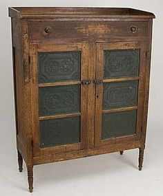 Shenandoah Valley of Virginia walnut six-tin pie safe ...I'd love to have one of these!