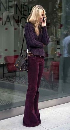 head to toe in plum.