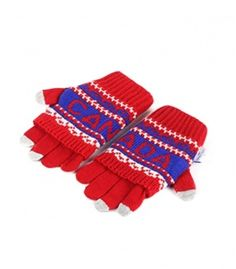 Red & Blue Canada 2 In 1 Gloves Winter Collection 2016
