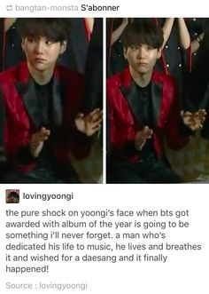 Aww Yoongi :')