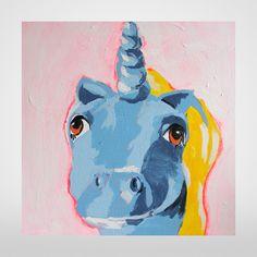 Blue Unicorn Limited Edition My Little Pony Art Print by Penny Tristram on The Bristol Shop