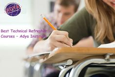 Best Technical Refresher Courses –AdyaInstitute  AtAdyaInstitute, our Technical Refresher courses are anticipated to render highest paid jobs. We cover topic with practical training as per the demand of the industries. Those who are interested in pursuing Technical, Electrical or Mechanical courses including advance techniques and equipment. To know more about our Technical Refresher courses visit our websitewww.adyainstitute.com.
