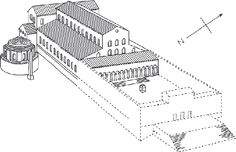 What St. Peter's in Rome looked like before it was remodelled by Michelangello and Bramante in the high Renaissance.