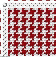 draft image: Figurierte Muster Pl. XIX Nr. 4, Die färbige Gewebemusterung, Franz Donat, 6S, 6T