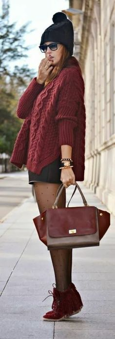Pretty Woolen Sweater with Shorts