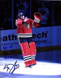 "Scott Darling ""1st WIN 1st STAR 10/26/14"" Autographed Signed Blackhawks 8x10 Photo Photograph"