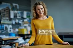 Stock Photo : Portrait of young female architect