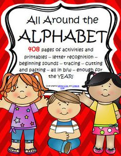 408 pages of activities and printables – letter recognition – beginning sounds – tracing – cutting and pasting – all in b/w – enough for the YEAR!