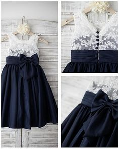 http://www.lightinthebox.com/a-line-knee-length-flower-girl-dress-lace-taffeta-sleeveless_p4454959.html?pos=ultimately_buy_1&prm=1.3.5.0  $59.99 Lace and Taffeta Navy and white flower girl dress.
