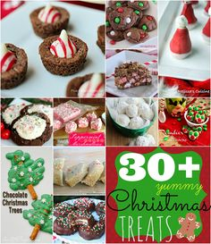 Over 30 yummy Christmas treats at GingerSnapCrafts.com #linkparty #features #Christmas #recipes