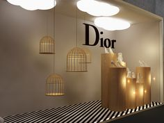 Dior Window Display on Behance Front Window Design, Window Display Design, Window Display Retail, Window Display Summer, Vitrine Design, Store Front Windows, Retail Store Design, Perfume, Behance
