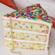 Sprinkles Cake Purse Clutch Bag Accessories Jewelry Fun Pie Cake Food Jewelry Pastries Color Design Rommydebommy Sweet from rommydebommy on Etsy. Unique Handbags, Unique Purses, Unique Bags, Cheap Handbags, Cute Purses, Purses And Handbags, Luxury Handbags, Popular Handbags, Handbags Online
