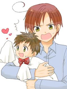 Hetalia Romano the boss & Chibi Spain