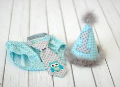 party hats for boys | Boys Birthday Party Hat, Diaper Cover, Tie - Smash Cake, Photo Prop ...