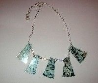 CD Jewelry  •  Free tutorial with pictures on how to make a recycled necklace in under 30 minutes