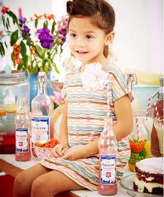 Baby K Stripy Dress with Corsage