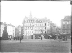 Place d'Aine, vers 1910. Photo Jean-Baptiste Boudeau. Bfm Limoges