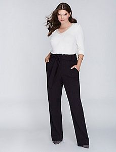 Striped Belted Trouser