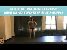 The 5 best exercises for glute activation using a mini resistance band. Includes side shuffles, squats, clamshells, bridges and monster walks. Resistance Band Training, Resistance Band Exercises, Strength Training, Crab Walk Exercise, Glute Activation Exercises, Calorie Burning Workouts, Bum Workout, Belly Fat Diet Plan, Back Exercises