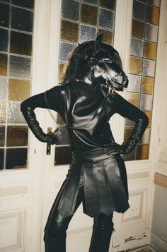 Karlina Caune by Tung Walsh for Tar Magazine Fall 2012 - Bob Basset Horse Costumes, The Libertines, Puppy Play, Leather Gloves, Fashion Pictures, Looking For Women, Editorial Fashion, Supermodels, Fashion Photography