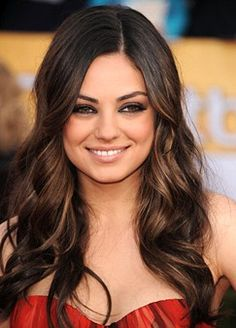 mila kunis. this is the exact hair i'm dying to have!