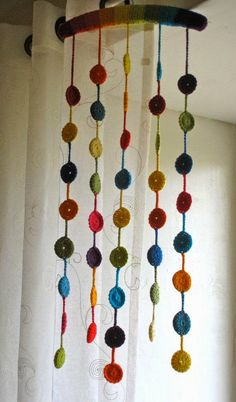 Crochet Garland, Crochet Curtains, Beaded Curtains, Diy Curtains, Crochet Circles, Crochet Mandala, Crochet Motif, Christmas Crafts Sewing, Sewing Crafts