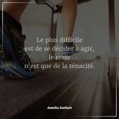 """cool Citation - #Citation du jour : #Attitude & #Pensée #Positive. """"Le plus difficile ..."""