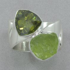 Lilly Barrack Peridot and Olivine Zircon Ring