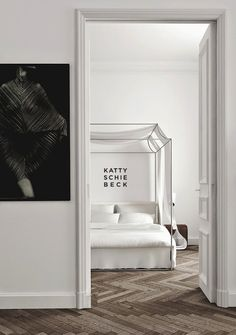 Etc Inspiration Blog Modern Barcelona Apartment By Katty Schiebeck Bedroom Herringbone Parquet Wood Floors photo Etc-Inspiration-Blog-Modern...