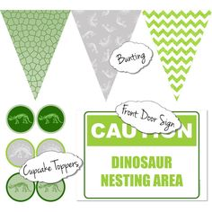 Free Dinosaur Party Printables | Kit & Caboodle Parties | Dinosaur Party Ideas | Dinosaur Party Decorations | Free Dinosaur Printables | Free Printables