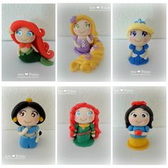 Mini Princesas Disney Porcelana fria (biscuit)