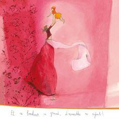 """Anne-Sophie Rutsaert carte postale carrée (14 cm) """"Et ce bonheur si grand..."""""""