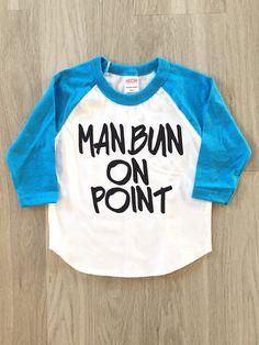 Man Bun on Point Raglan  baby boy or girl by 8thWonderOutfitters