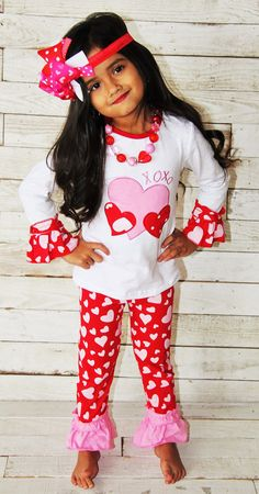 Hey, I found this really awesome Etsy listing at https://www.etsy.com/listing/217029804/valentines-xoxo-heart-outfit-girls